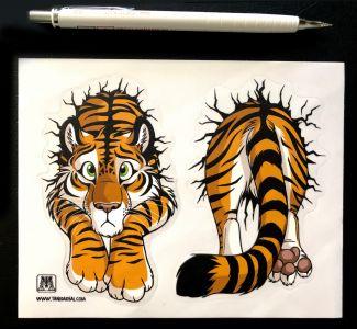 Sticker sheet STUCK Tiger