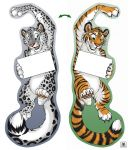 (Door) Hanger - Snow Leopard/Tiger (double-sided)