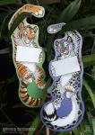 (Door) Hanger - Snow Leopard/Tiger (double-sided)