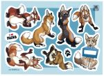 Sticker sheet FOXES