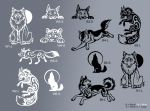 Plotted vinyl decals - different designs
