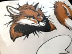 Sticker sheet STUCK Fox