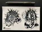 Sticker sheet STUCK Snow Leopard