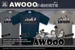 Lazy / Feral AWOOO T-Shirt - Navy