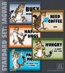 MOOD BADGES SET - Big Cats