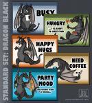 MOOD BADGES SET - Dragons