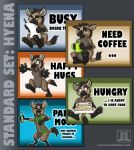 MOOD BADGES SET - Hyena