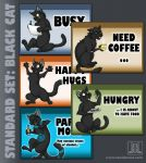 MOOD BADGES SET - Domestic Cats