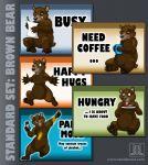 MOOD BADGES SET - Bears